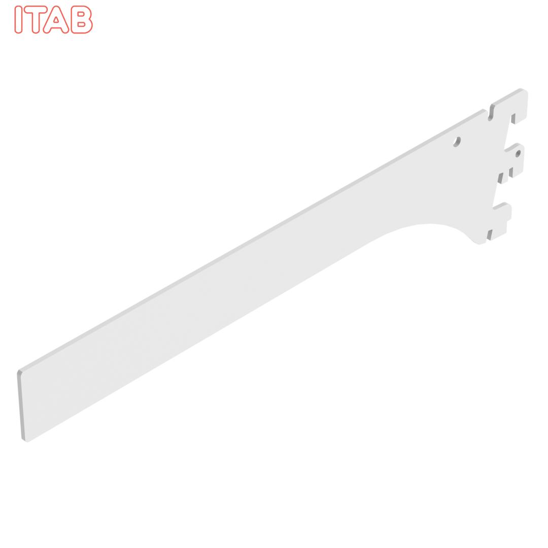 Hyllynkannatin Suorapäinen, 2-Asentoinen 30cm