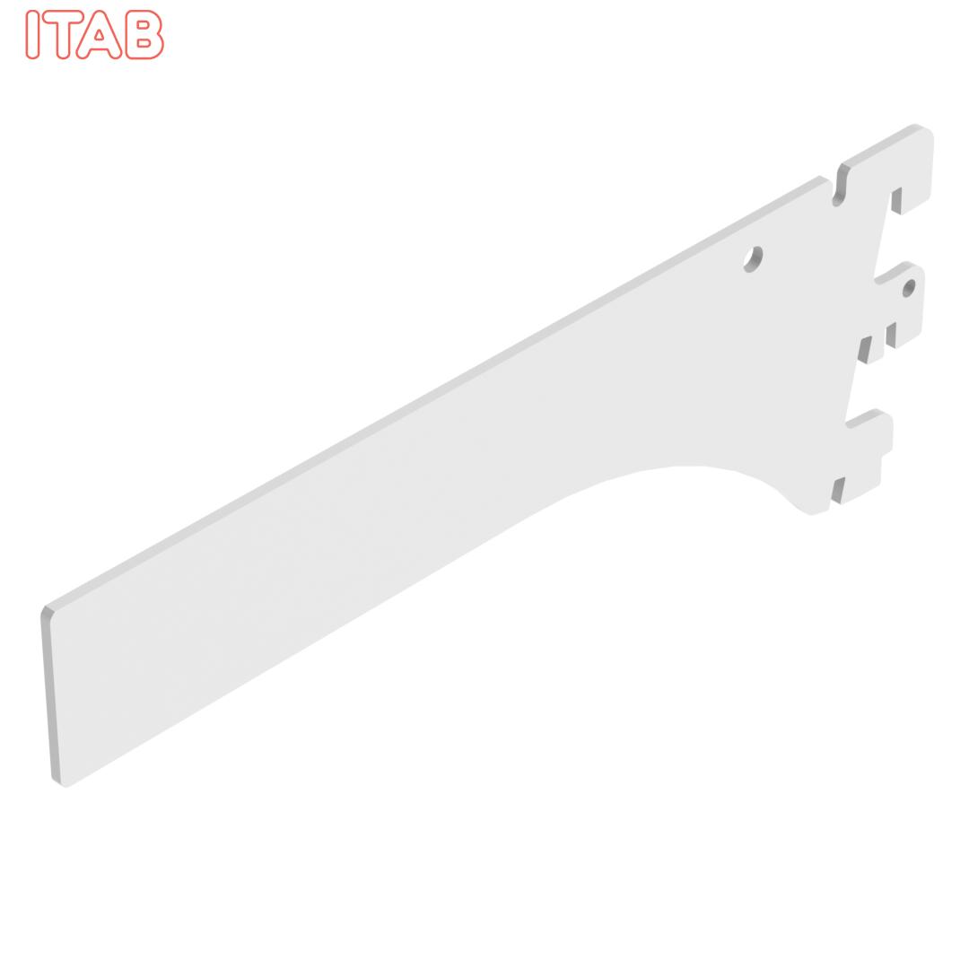 Hyllynkannatin Suorapäinen, 2-Asentoinen 20cm