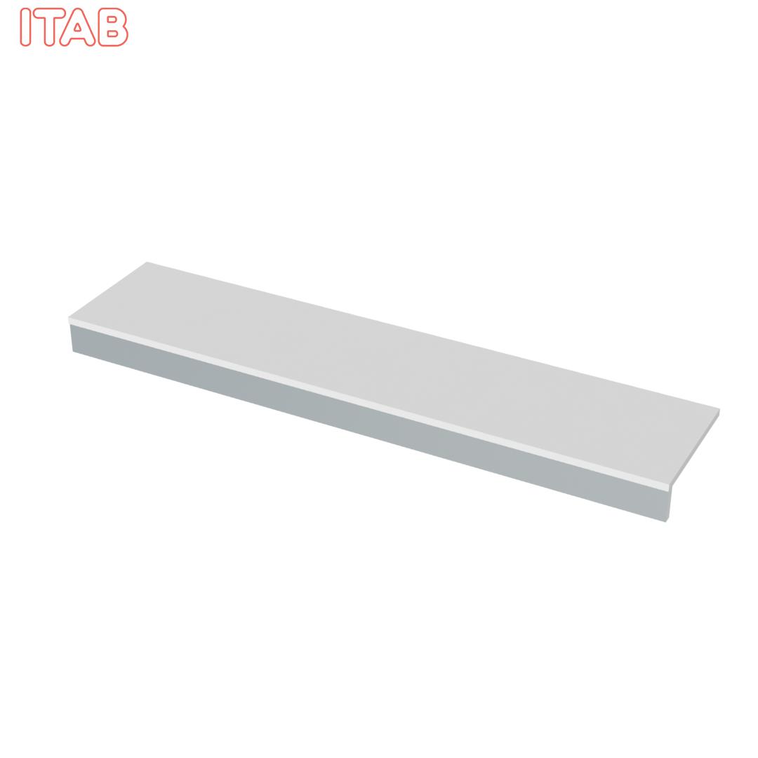 Alataso täysleveä valkoinen 183x40