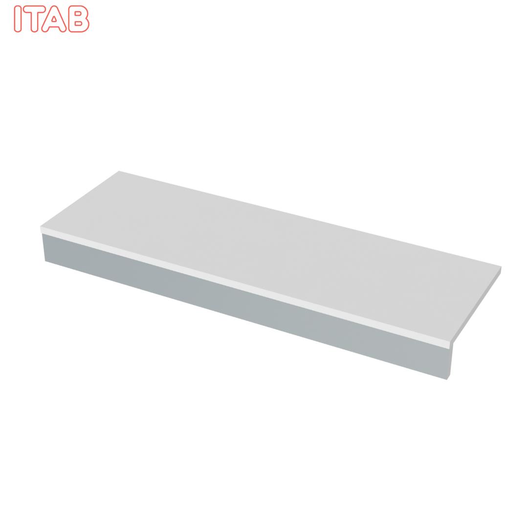 Alataso täysleveä valkoinen 123x40