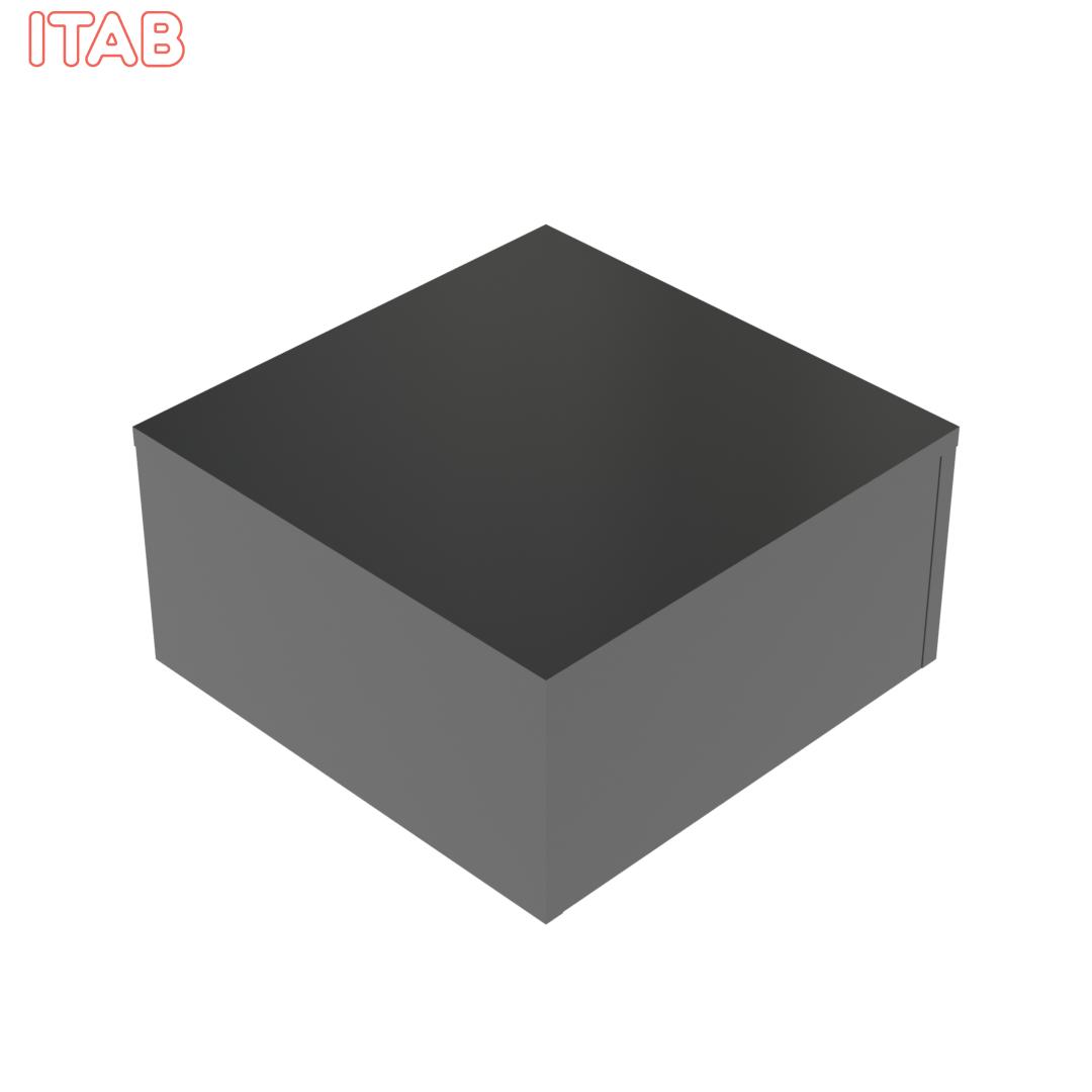 Podium Musta kiiltävä 60x60x30