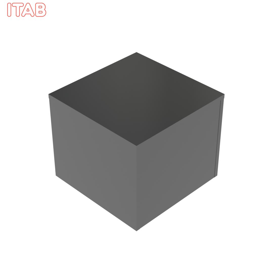 Podium Musta kiiltävä 60x60x50