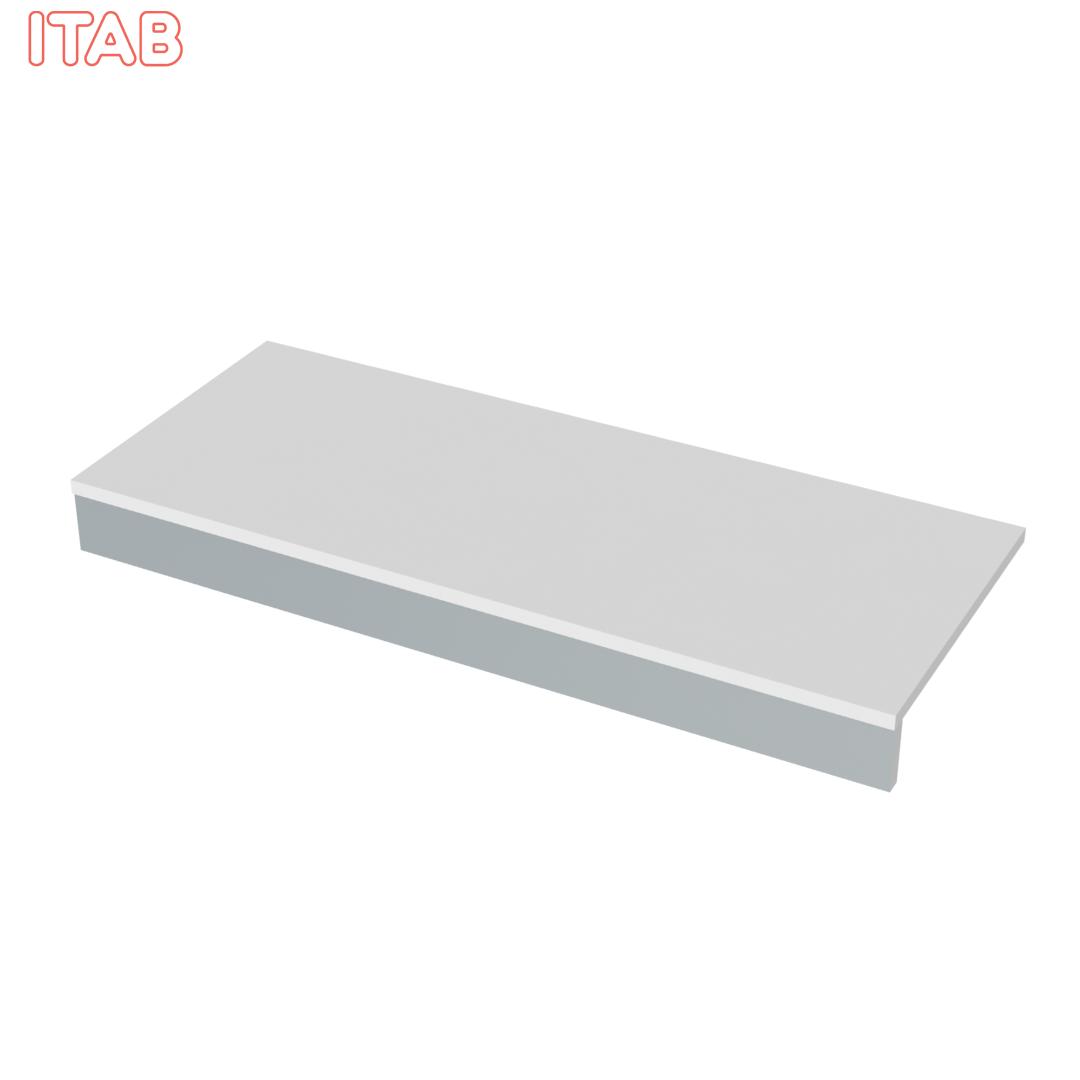 Alataso täysleveä valkoinen 123x50