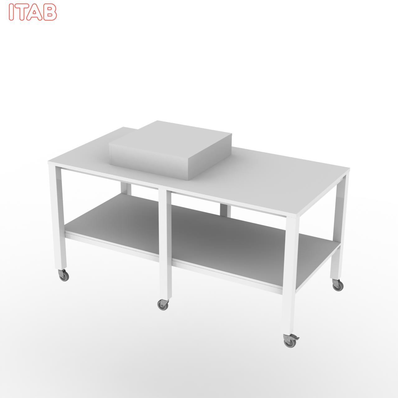 Pöytä 2-taso irtokorokkeella 180x90x90