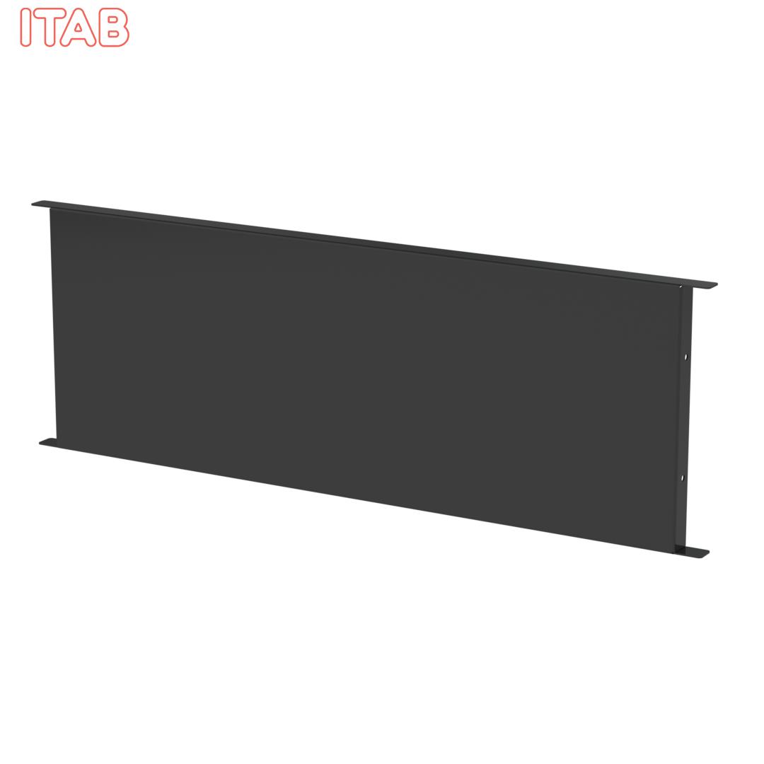 Jakaja lavakaulukseen 600x200, musta