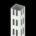 Kulmasäätöputki sinkitty + Tallat 30x30x280