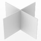Jakajaristikko Massakoriin 120x120x62