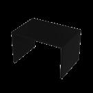 Tasopöytä musta 130x90x80
