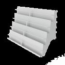 Korttihylly 4-portainen 90x22x53