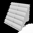 Korttihylly 6-portainen 90x30x77