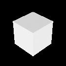 Podium Valkoinen 50x50x50